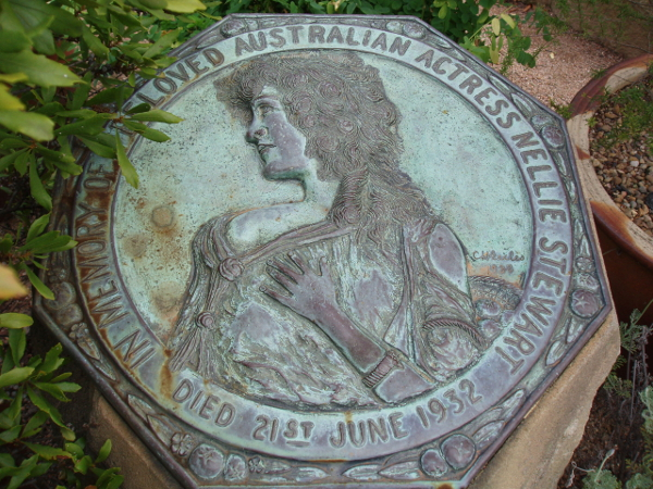 Fig. 9 Nellie Stewart's Memorial Plaque, Royal Botanical Gardens, Sydney